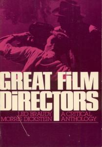 Great Film Directors A Critical Anthology Leo Braudy